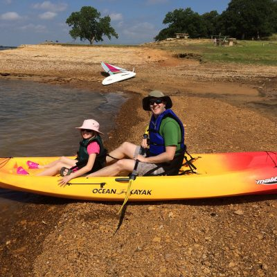 Father and Daughter Paddle
